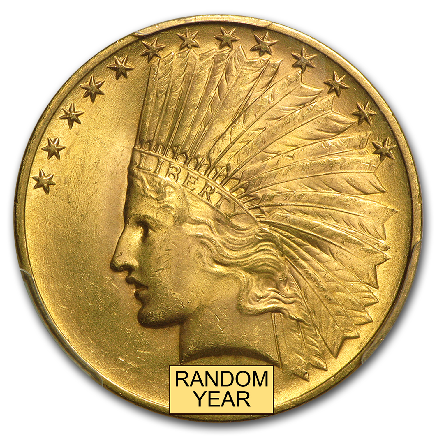 $10 Indian Gold Eagle - MS-65 PCGS